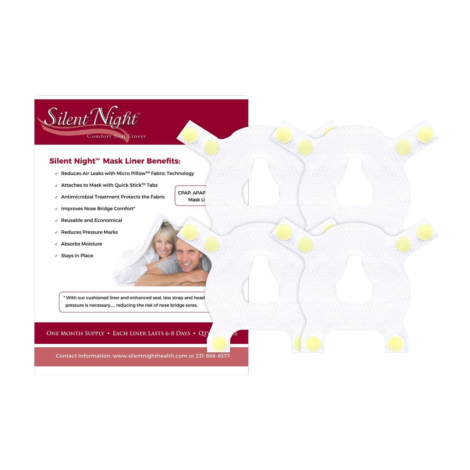 Silent Night Liners for Nasal CPAP Mask