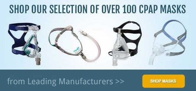 CPAP Masks - Full Face, Nasal Pillow, Oral and more