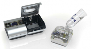 Fill your CPAP humidifier with distilled water