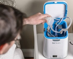 Use a CPAP Cleaner to clean your CPAP mask