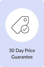 30-Day Low Price Guarantee Price Tag with Checkmark